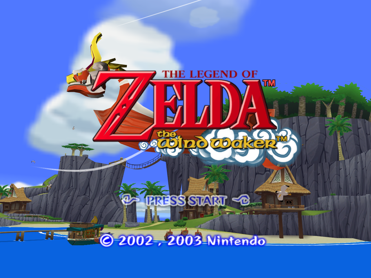 the wind waker title screen