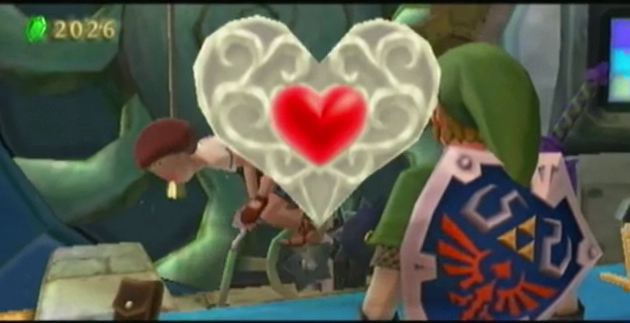 skyward sword heart pieces