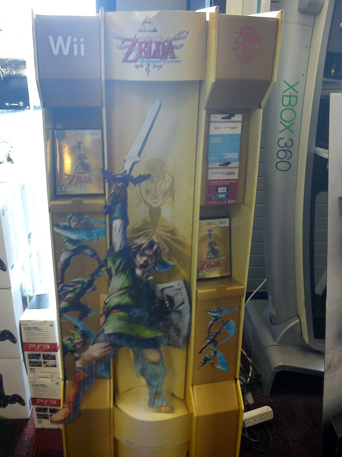 Skyward Sword Game Display