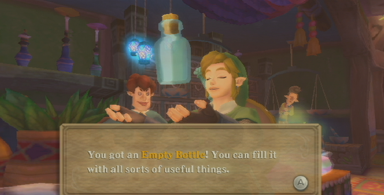 skyward sword bottle locations