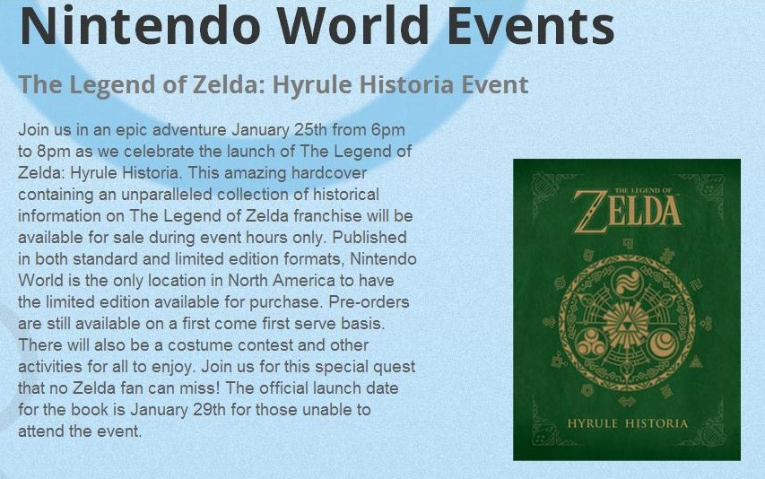 Hyrule Historia Launch Event at Nintendo World Store