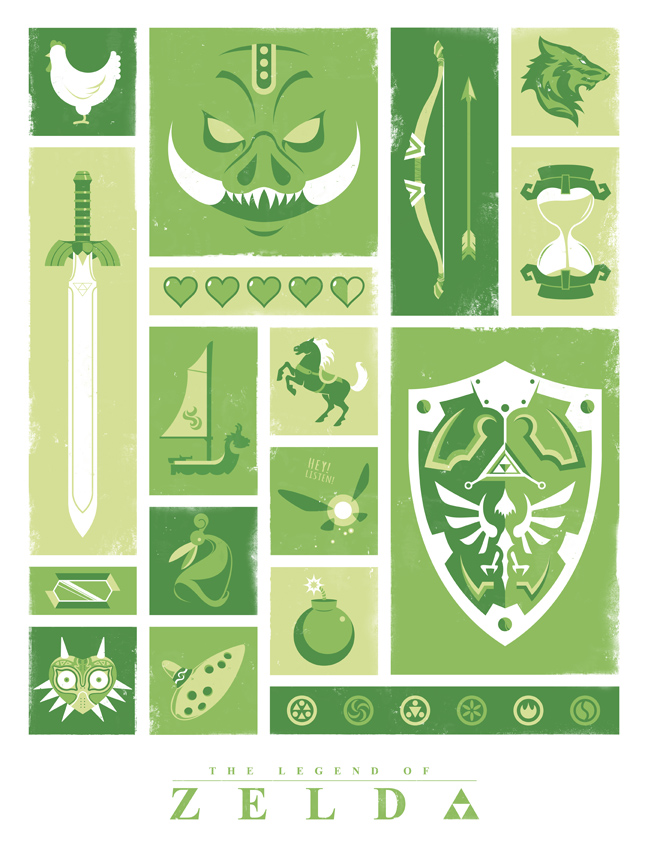 Legend of Zelda Poster Print With Free Shipping