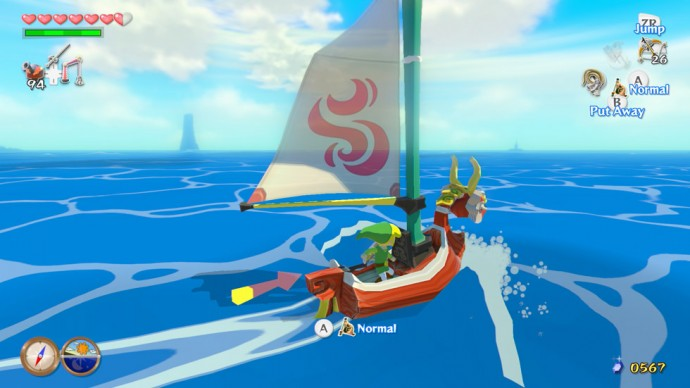 wind waker hd red sail