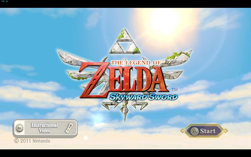 skyward sword title screen