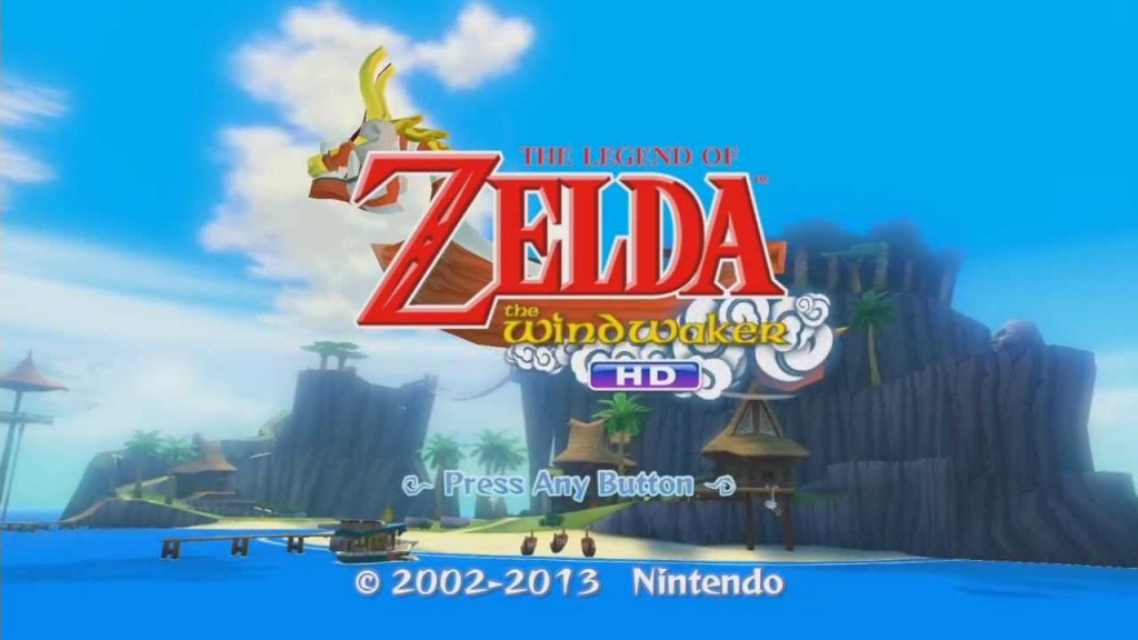 wind waker title screen