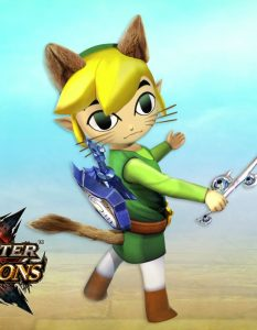 Wind Waker Link in Monster Hunter Generations
