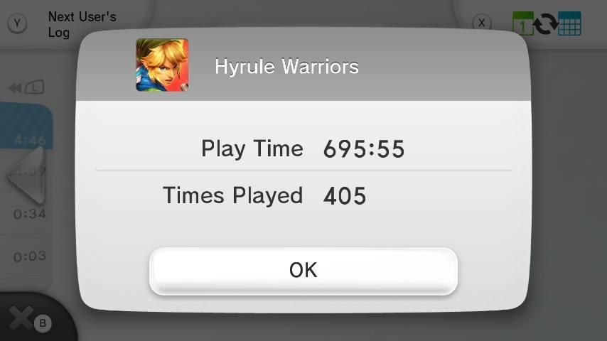 Hannah's Hyrule Warriors Daily Log