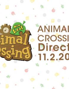 Animal Crossing Direct Nov 2