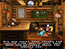 Legend of Zelda cameo in Donkey Kong Country 3