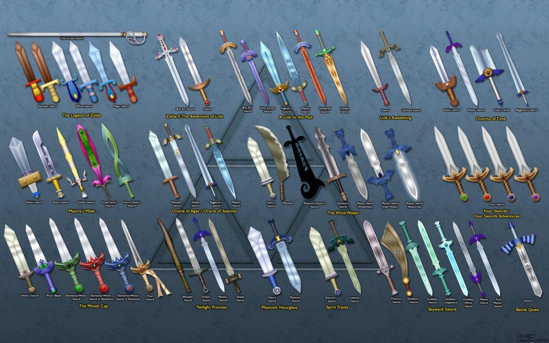 Evolution Of Link S Swords Wallpaper