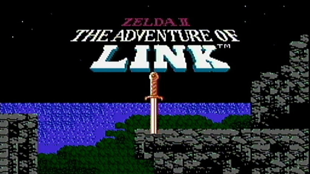 adventure of link title screen