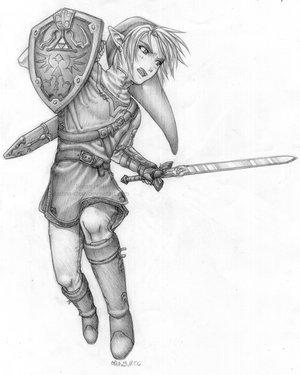 Drawing Of Link Legend Of Zelda Fan Art